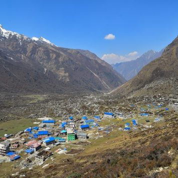 Langtang valley trek in Nepal.