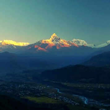 Sunrise Himalayan view from Sangkot