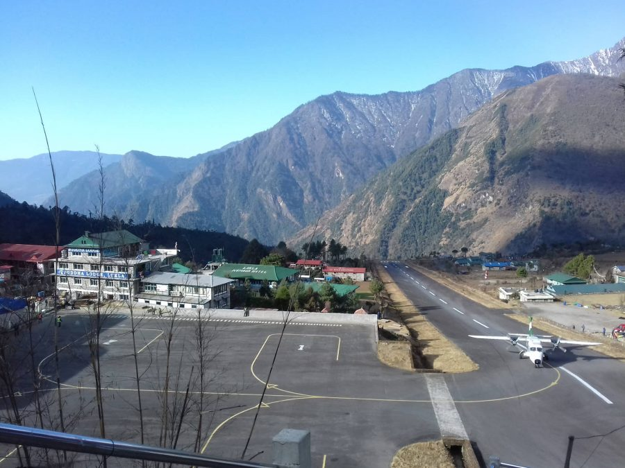 After Everest horse ride trek, lukla airport.